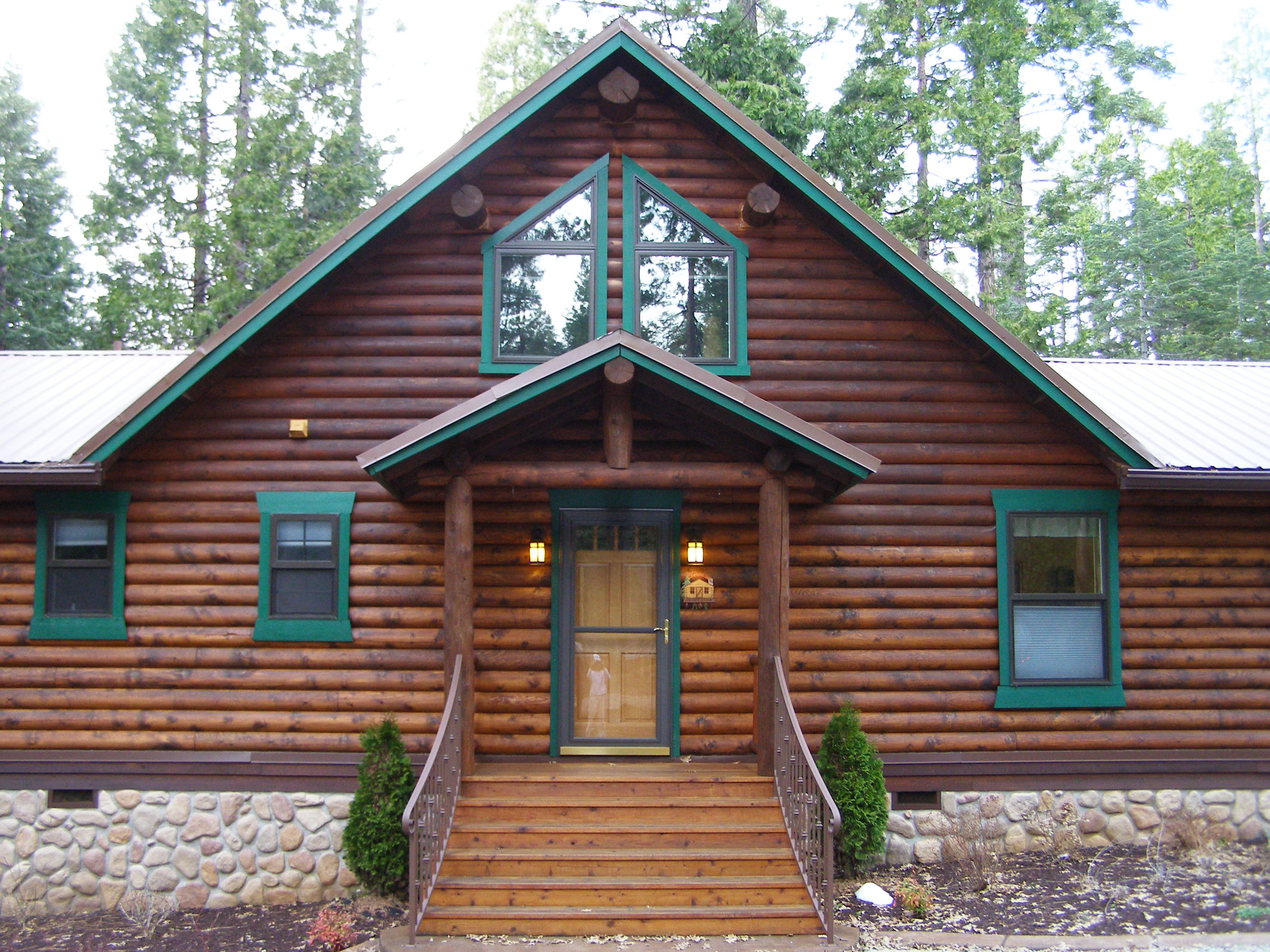 Best exterior finish for log homes log homes exterior How to stain log cabin